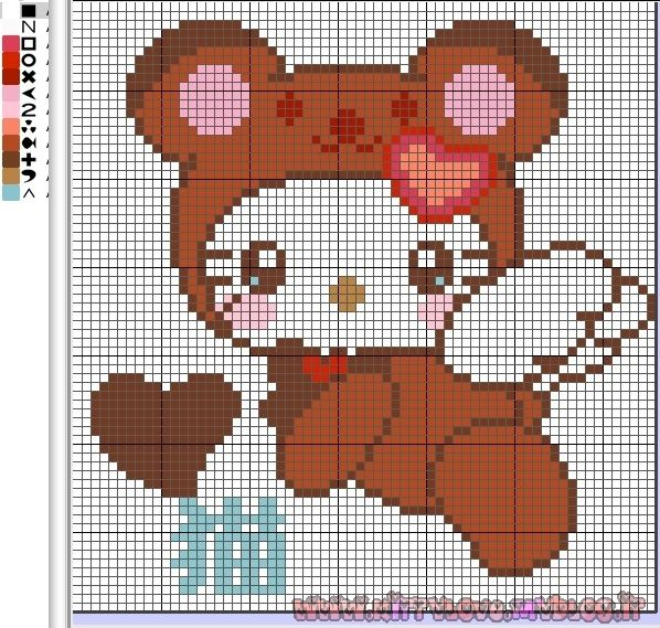FREE Hello Kitty perler bead pattern