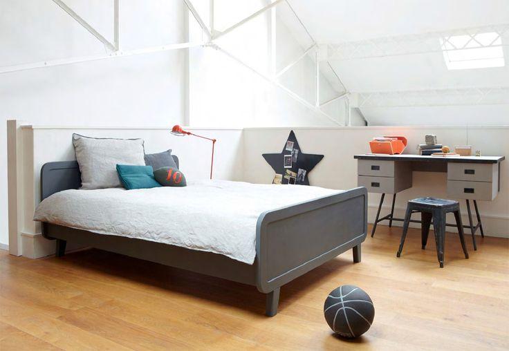 Laurette twijfelaar bed Le lit rond 120 cm dark grey