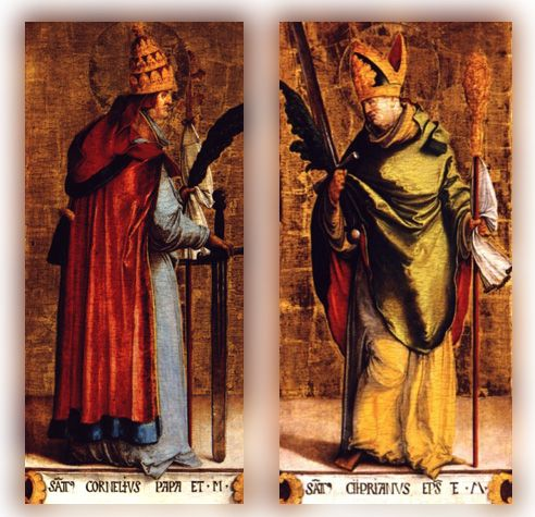 st cornelious and cyprian | st cornelius pope and martyr and st cyprian bishop and martyr by ...feast day September 16