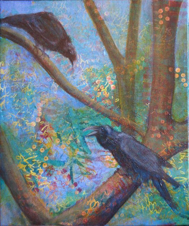 Ravens. Acrylic 2017