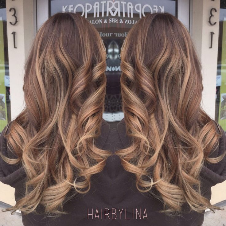 Light brown balayage on milk chocolate base | Hair By Lina ...