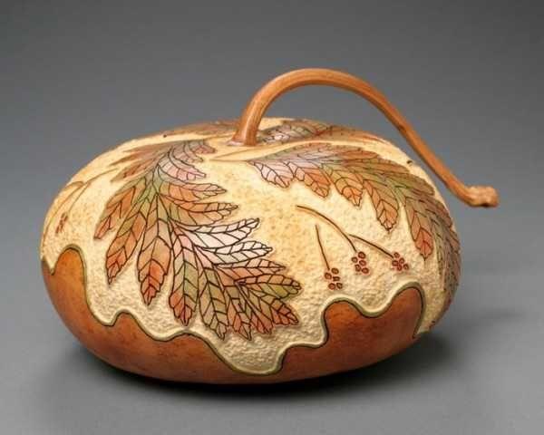 tallado de calabazas, hojas, patrón