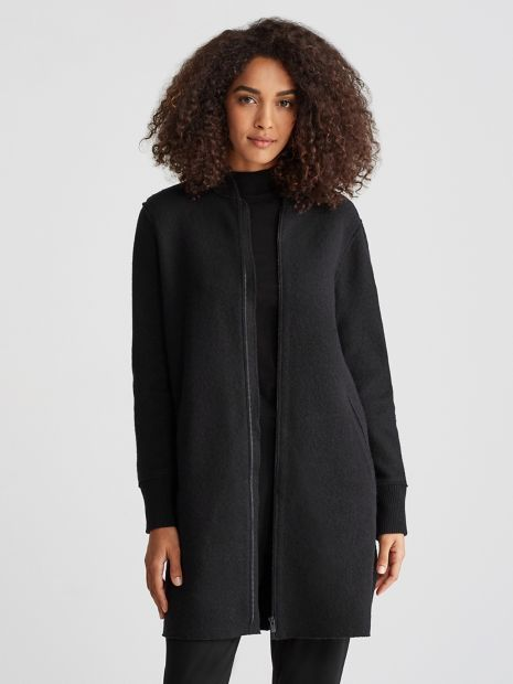 17c00d2ab Eileen Fisher - The timeless bomber, updated with a longer hemline ...