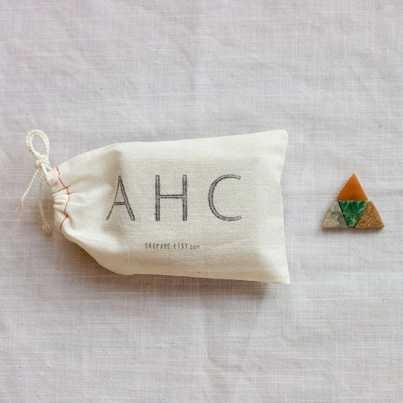 packaging from AHCRings Packaging, Etsy, Cotton Pouch, Packaging Design, Red Necklaces, Packaging Ahc, Celeste Necklaces, Pretty Packaging, Bags
