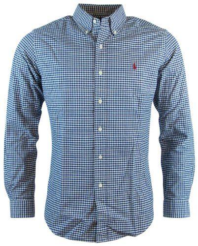 Polo Ralph Lauren Mens Long Sleeve Custom Fit Button Down Shirt