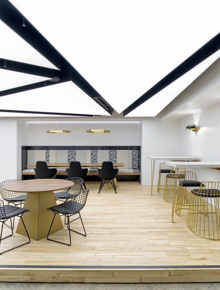 Light, Wood Look Plank Flooring | Uber 5 | San Francisco. Workplace DesignModern  Office ...