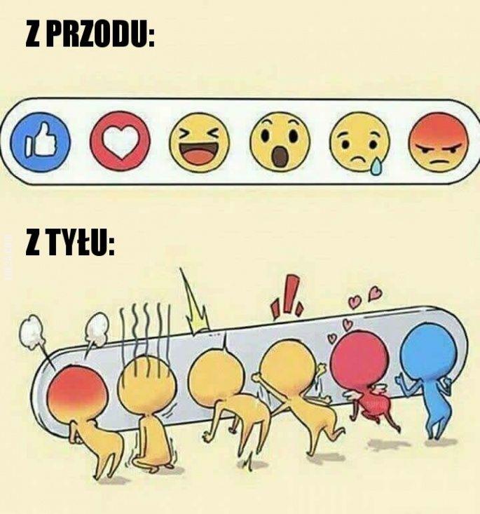 Facebookowe emotki z tyłu #facebook #emotki #tyłu