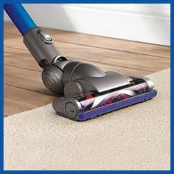 Dyson digital motor3 times faster than conventional motors. The most power-efficient cordless vacuum. Motorized floor tool with carbon fiber brushesUltra-fine conductive carbon fiber brushesclean hard floors. Rotating nylon brushesremove ground-in dirt from carpets.