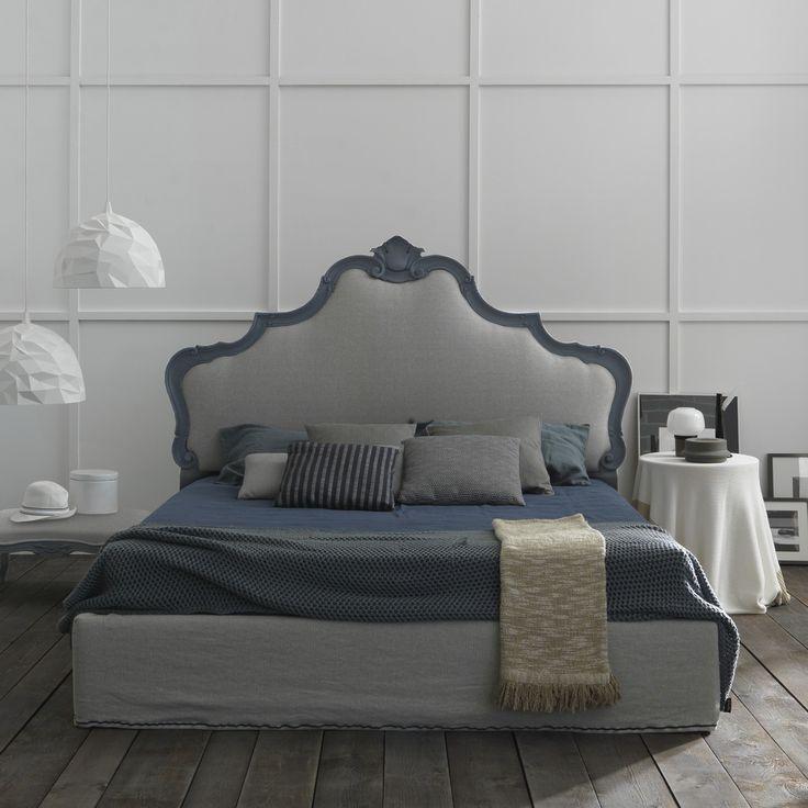 Lit baroque Amburgo avec tête de lit capitonnée - ARREDACLICK