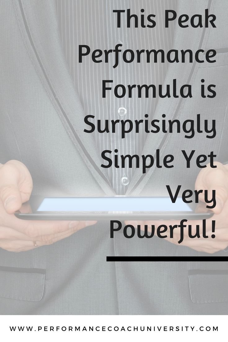 This Peak Performance Formula is Surprisingly Simple Yet Very Powerful! Check out these 4 steps to utilizing this simple yet powerful formula with your coaching clients.