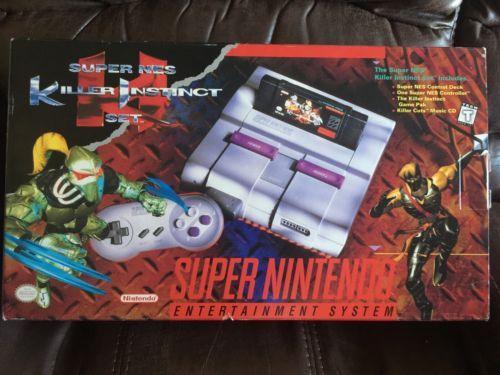 From $299 - Super #Nintendo System #SNES #Console Killer Instinct Box  #retrogaming #arcade