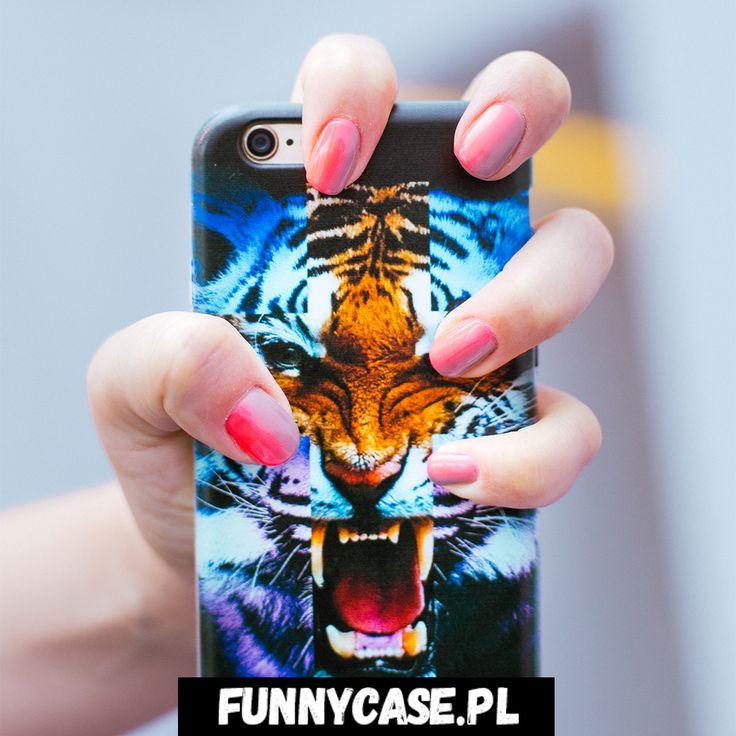 #tiger #etui #case #cover #tygrys #grafika #graphics #nowość #newin #sprawdź #checkitout #nails #hands #funnycase