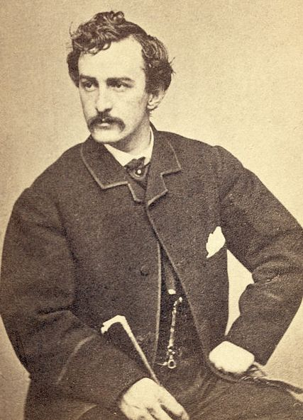 """Photo: John Wilkes Booth, c. 1865. Credit: Library of Congress, Prints and Photographs Division. Read more on the GenealogyBank blog: """"Lincoln's Assassin, John Wilkes Booth, Shot Dead"""" https://blog.genealogybank.com/lincolns-assassin-john-wilkes-booth-shot-dead.html"""