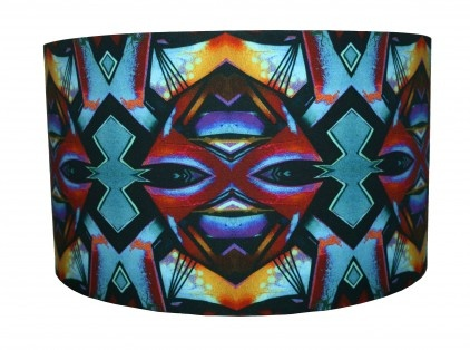 Aztec Print Lampshade by Zedhead