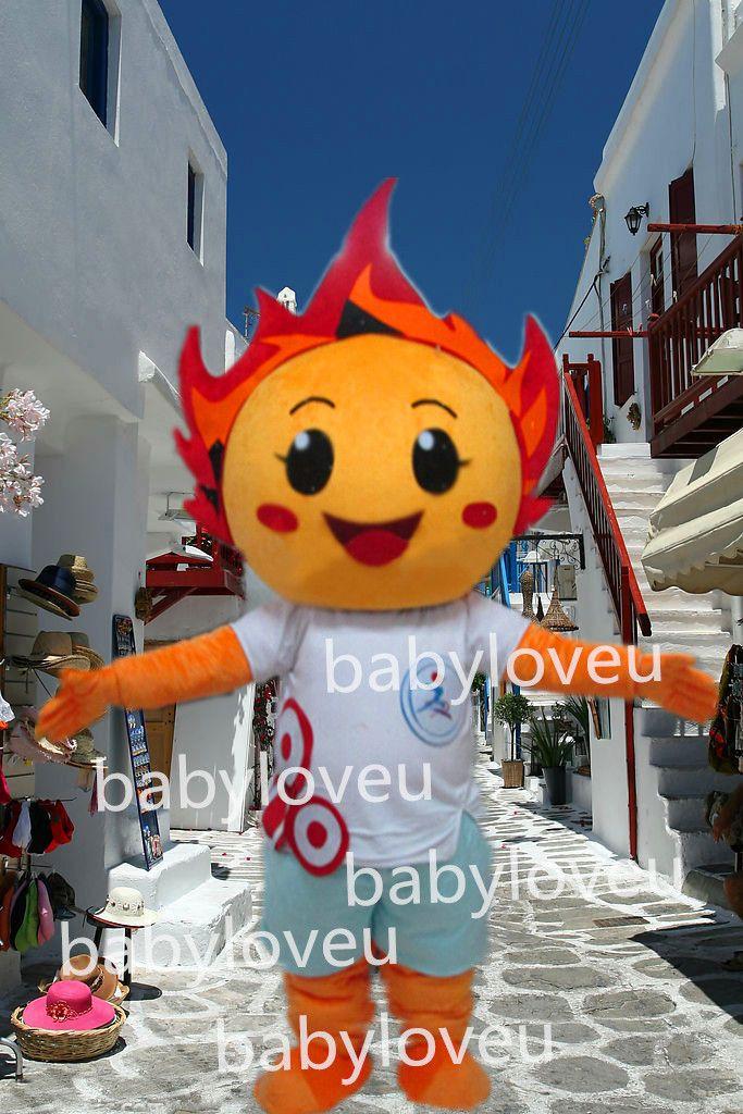 Esporte traje da mascote trajes mascote trajes dom cara feliz dos desenhos animados fogo fogo(China (Mainland))