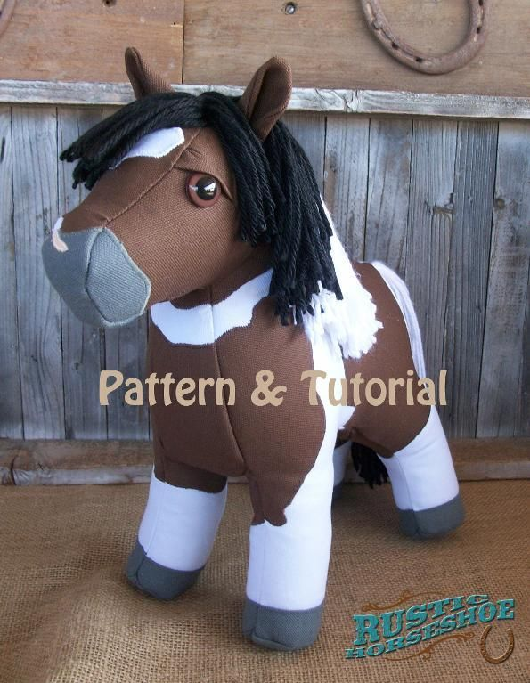 (9) Name: 'Sewing : Canvas Colt Plush Horse Pony Softie