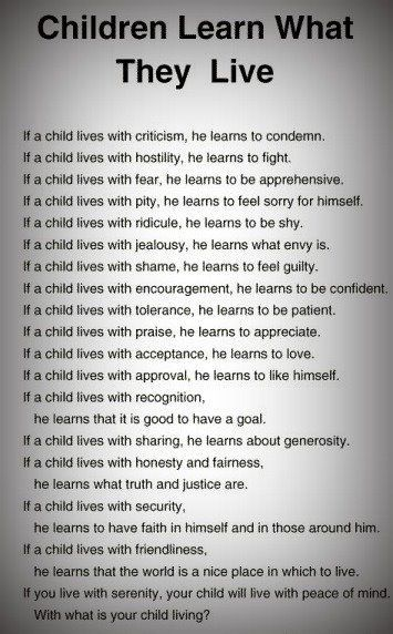 Very true. How are YOU raising your children? I know I need to work on ME a bit more... ♥