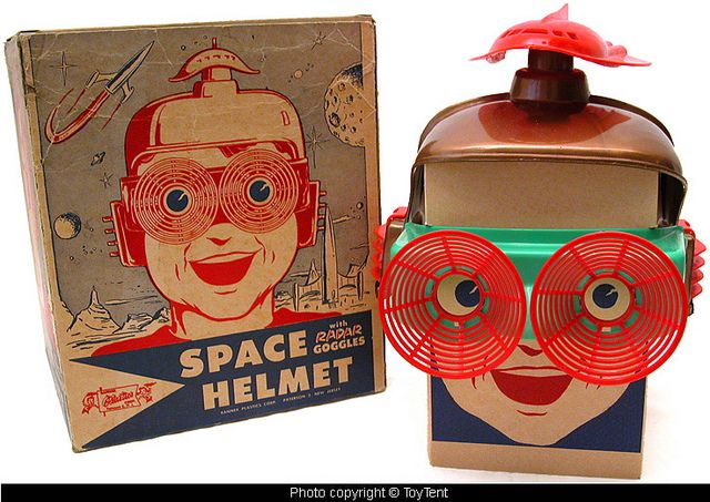 Space Helmet with Radar Goggles