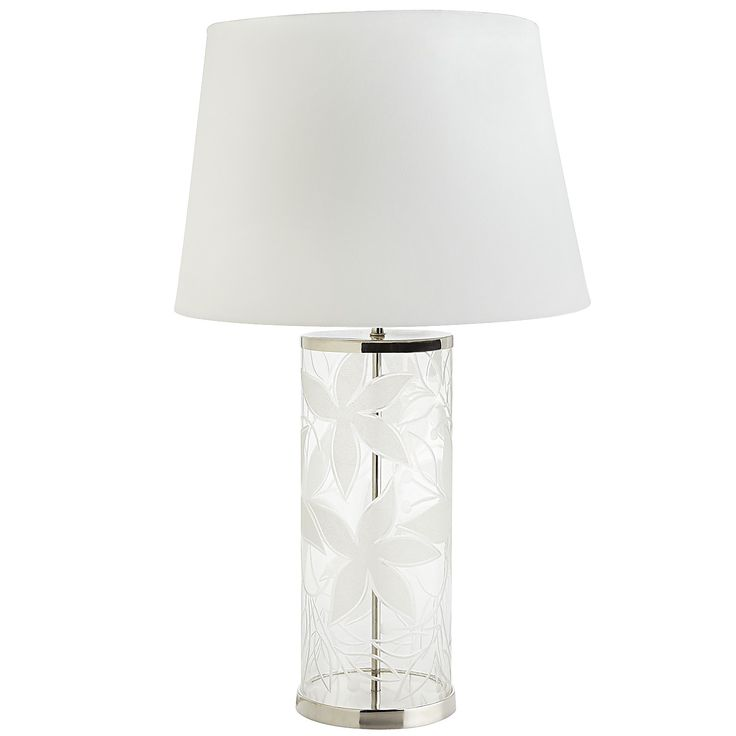 Clear lilies table lamp stainless steel