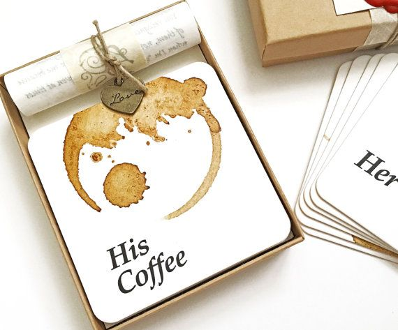 His and Hers gift, hubby and wifey, Unusual gift for boyfriend or girlfriend, Funny couple gift, Present for Coffee lover, Unusual gift idea