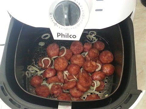 Linguiça na fritadeira sem óleo - Airfryer - YouTube