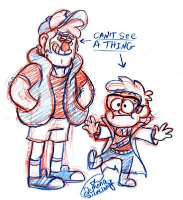 Dipper and ford dressed as each other