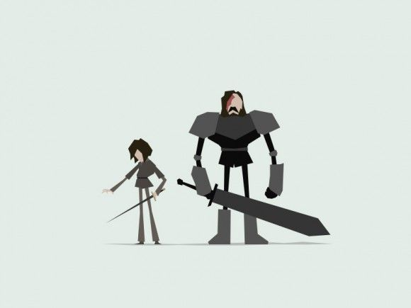 You'll love this minimal Game of Thrones vector art | Illustration | Creative Bloq