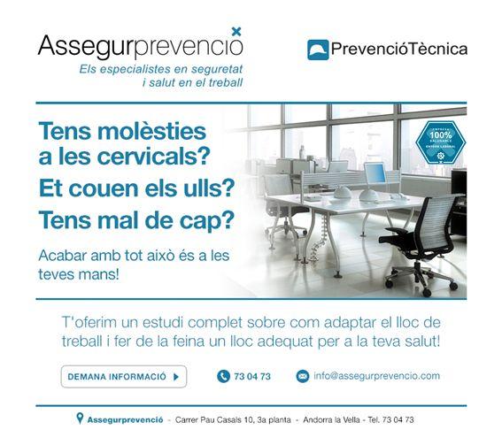 Et fa mal el cap, les cervicals? Demana un estudi d'adequació del lloc de treball http://buff.ly/1Isb6AD #saludable