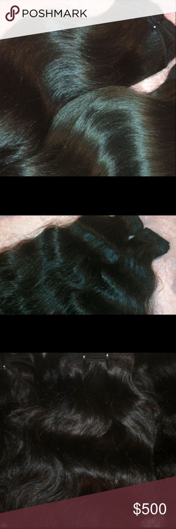 Raw Indian bundles from India 🇮🇳 Gorgeous raw Indian temple bundles! Lengths 12-24 of beautiful unprocessed hair!!! It doesn't get much better than this!! Natural color, no dyes or chemicals! Raw hair comes in different shades and wave patterns, no 2 bundles are alike! Get your bundles now👍🏽😍🙌🏽 these are the actual pictures of the hair😜🤗 Email me at kmdavis312@comcast.net for prices and more details🤗 Raw/unprocessed Accessories Hair Accessories
