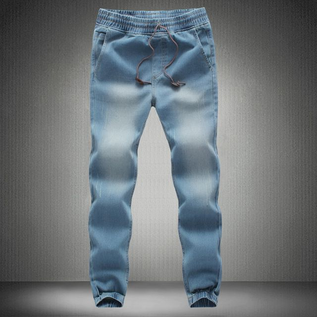 Check lastest price 2016 Scratched Denim Pants Harem Pants Men's Jeans Slim Fit Straight Trousers Slim Leg Pocket Jeanswear Washed MQ198 just only $21.48 with free shipping worldwide  #jeansformen Plese click on picture to see our special price for you