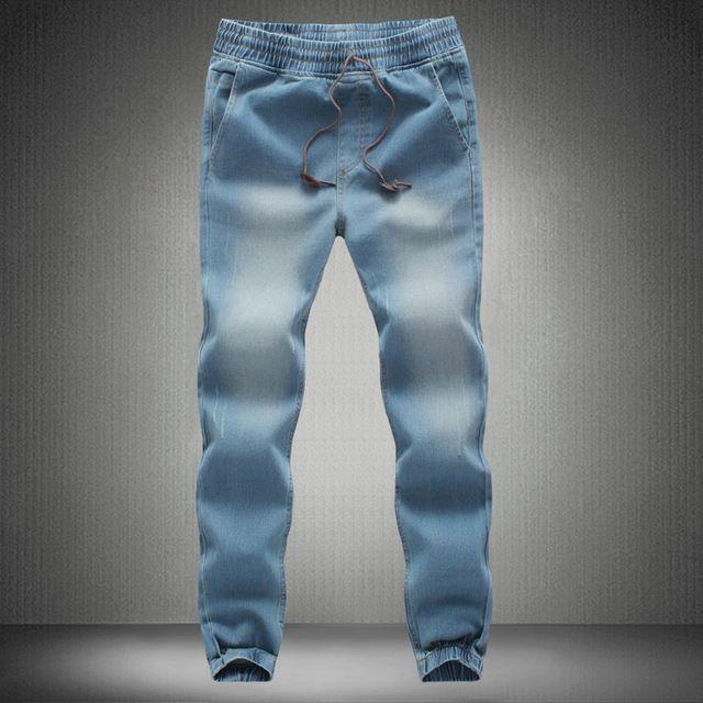 Jeans hombres 2016 mens elástico skinny Jeans largos slim fit pantalones casual pantalones de mezclilla hombre 28 - 42 40 38 más el tamaño M-5XL