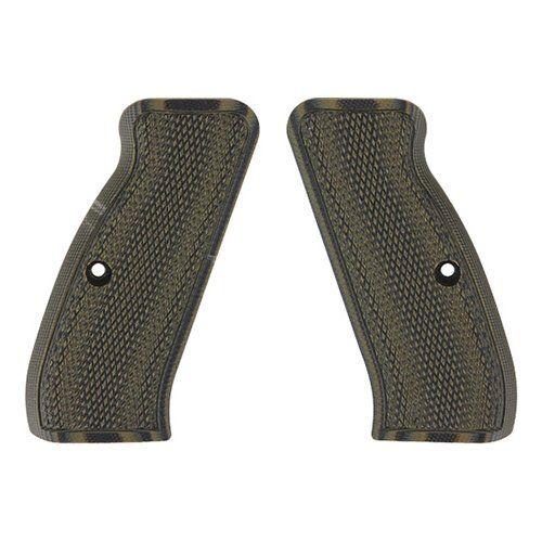 Pachmayr CZ 75 Checkered Gun Grips, Green/Black