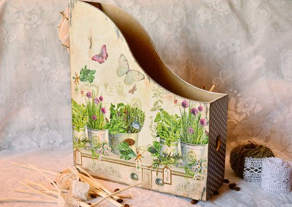 Magazine Holder Magazin Files Box for Paper by cozyhomestuff