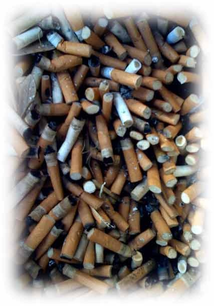 This is all from one smoker in the house! Took this picture of his ashtray...