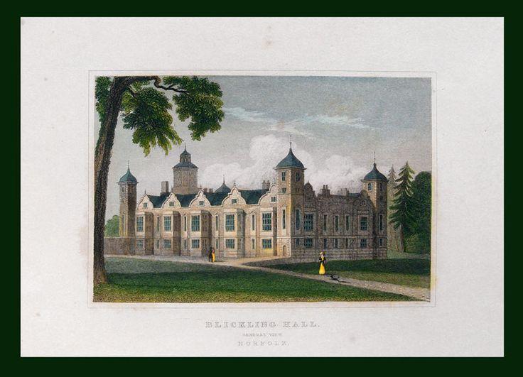 Stampe antiche castelli inglesi