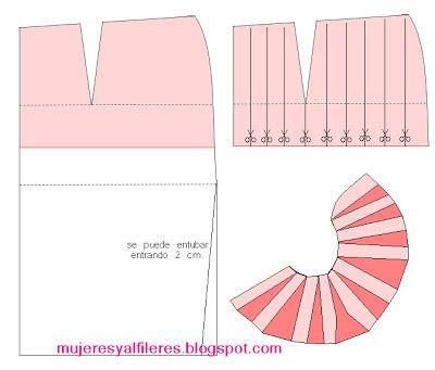 Mujeres y alfileres: Moldería de pollera peplum