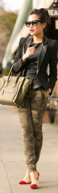 Celine so mean! Oh & I like the  camo pants.