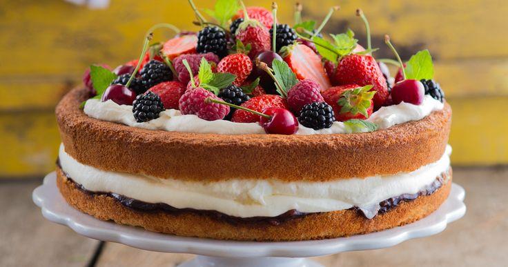 #tort fasolowy z owocami. #fruits #delektujemy #cake #bday