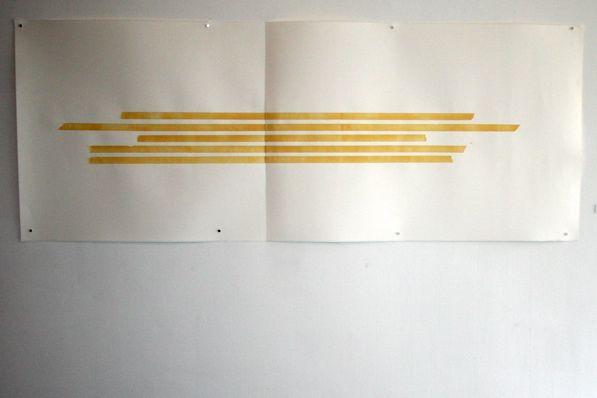 Tammi Campbell. Hard Edge. Acrylic on paper (trompe-l'oeil). 77'' x 30''