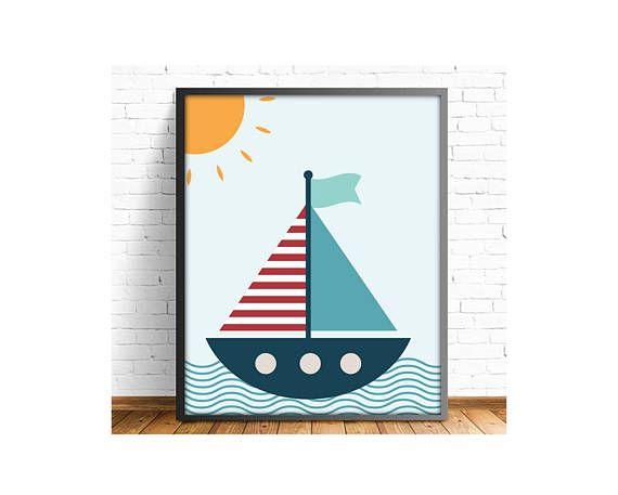 laminas infantiles, lamina barco, barco infantil, cuadro barco, laminas A3, laminas A4, laminas niños, lamina barco, incluye 4 tamaños