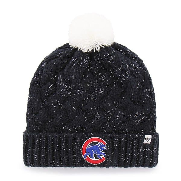 3f88ccb90 Chicago Cubs Women's 47 Brand Navy Fiona Cuff Knit Hat | Chicago ...