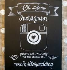 Instagram our wedding chalk board sign... but in lucy's case instagram her 5yr cancer free party