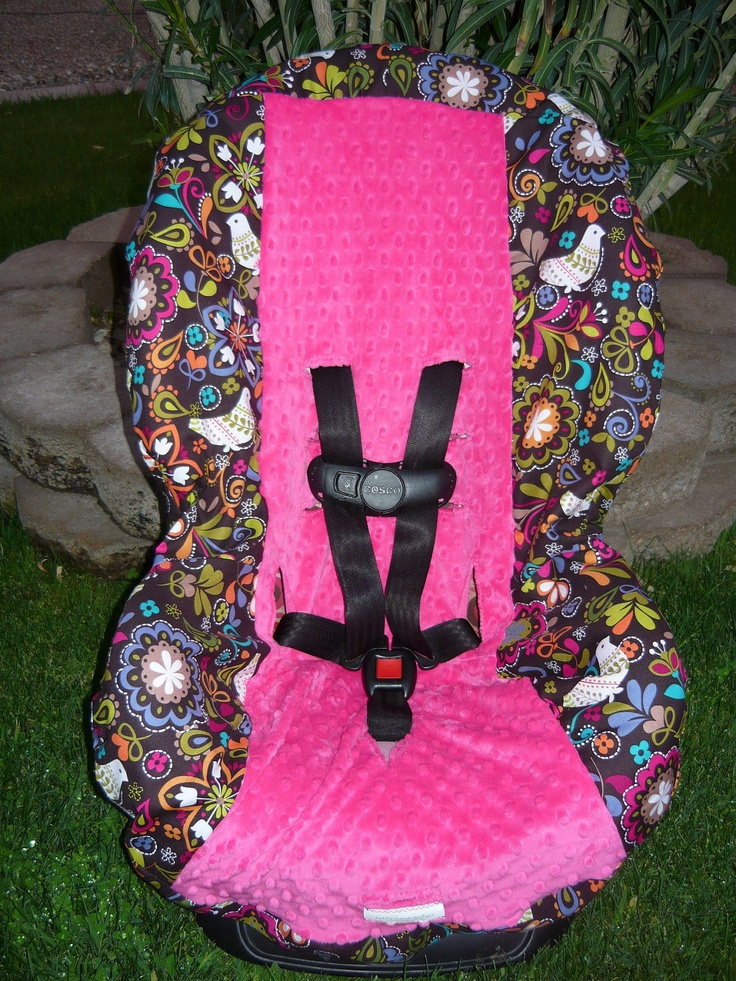 Birds of Norway with Hot Pink Toddler Car Seat by sewcuteinaz. $40.00, via Etsy.