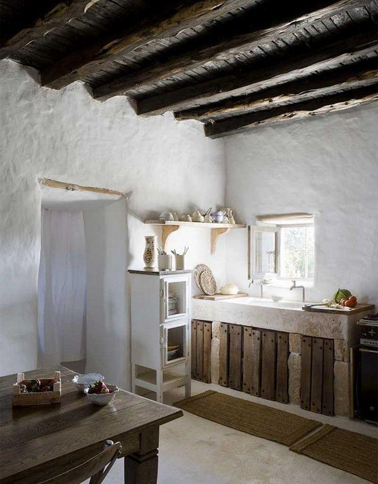 sencilla casa rstica en la isla de formentera reljate cocina de obra rustica