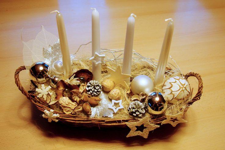 Vánoční svícen přírodní