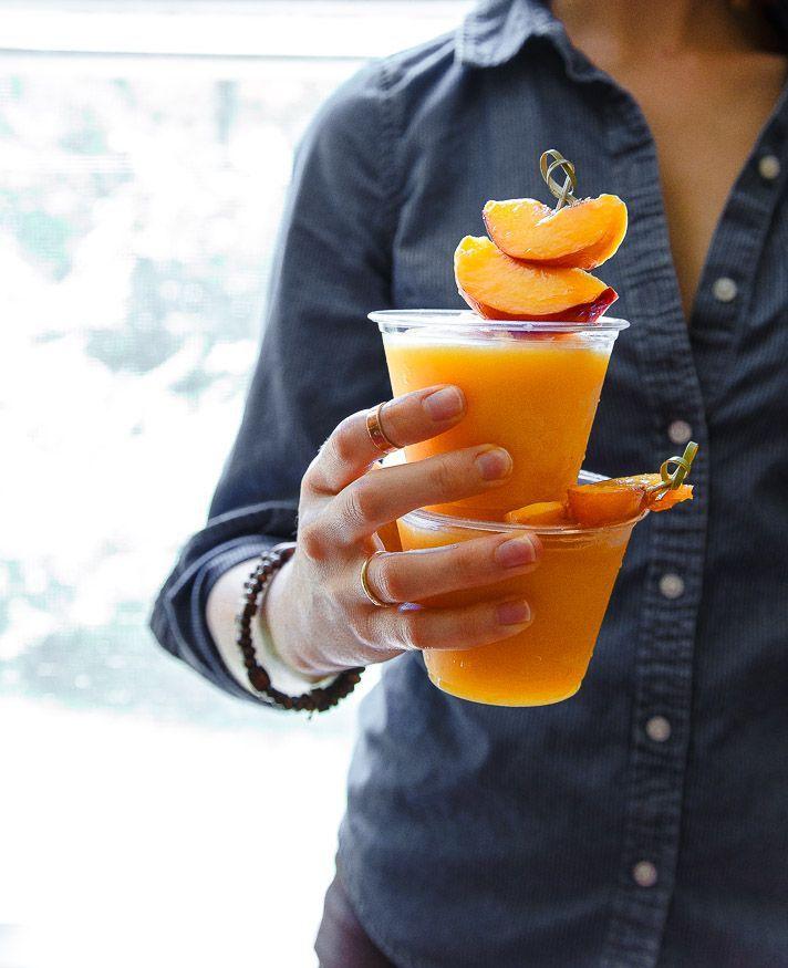 Peach Wine Slushy by @dessertfortwo