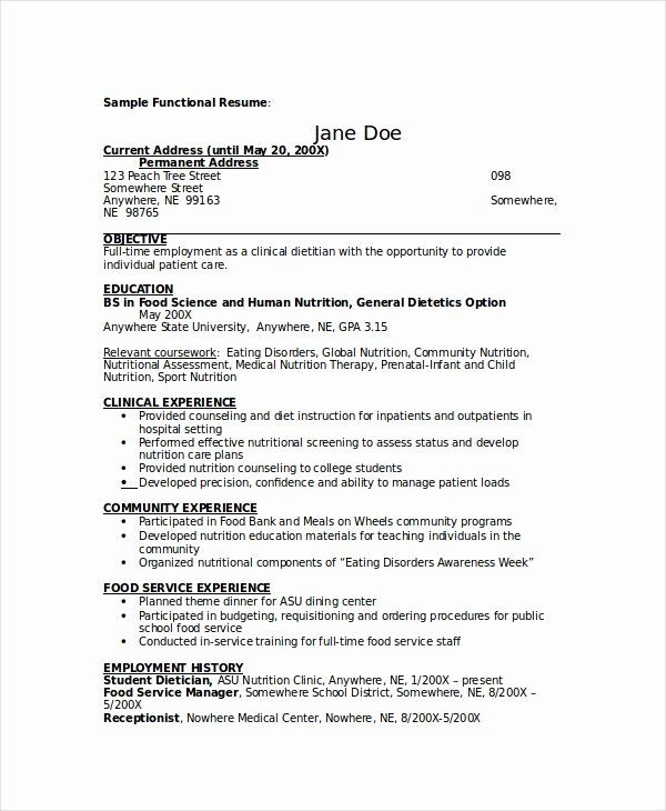 Entry Level Dietitian Resume Lovely Dietitian Resume Template 6 Free Word Pdf Documents Download Free Resume Template Word Resume Resume Template Free