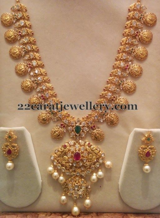 Pachi Bridal Haram with Hangings