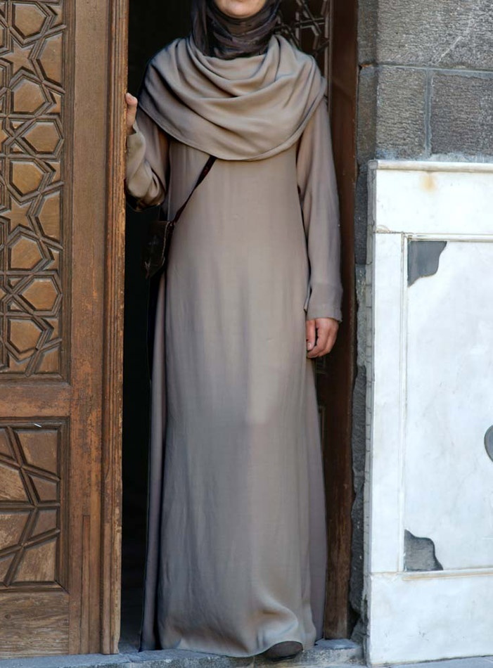 Modal Cowl Neck Abaya via www.shukronline.com #shukr
