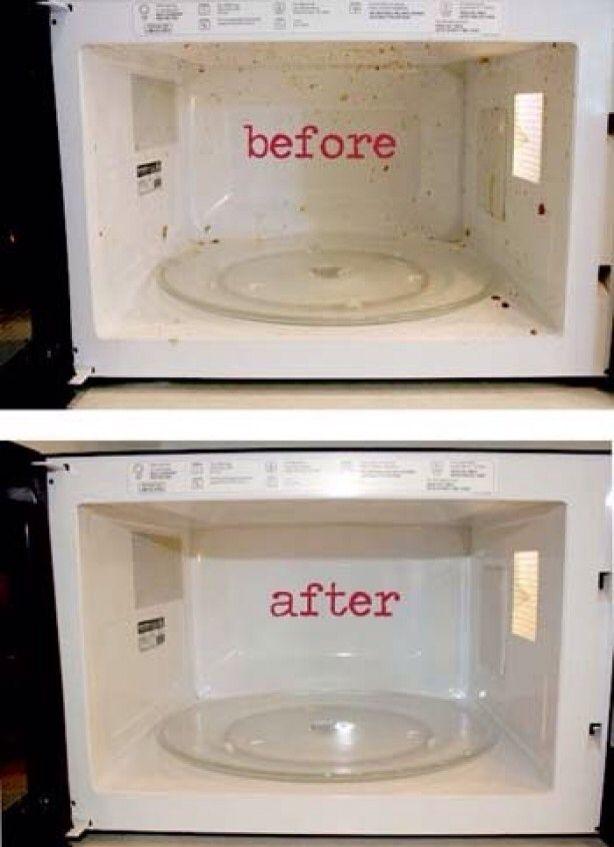 Magnetron reinigen; Kopje azijn samen met kopje water ( in 1 groot glas) 10 minuten
